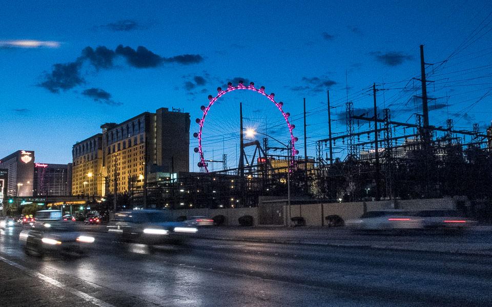 Las Vegas Power Station at Dusk - Travel Past 50