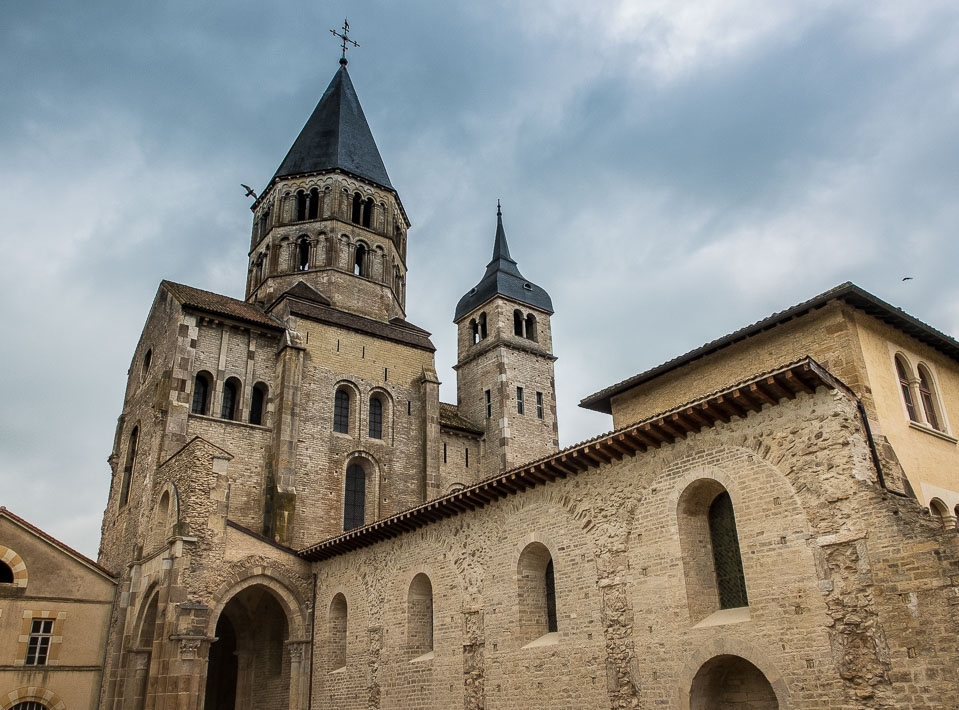 Only one of the original eight towers of the Cluny Abbey is left ...
