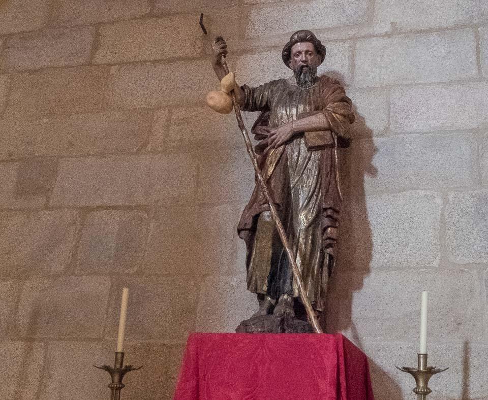 santiago pilgrim caceres cathedral spain