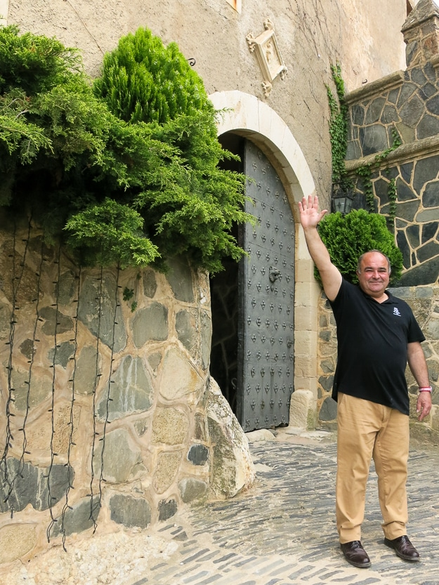 Jose Pedro Gil Moreno de Mora of Castle Riudabella, now a winery and gastro tourism resort.