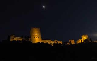 alhambra lit at night granada