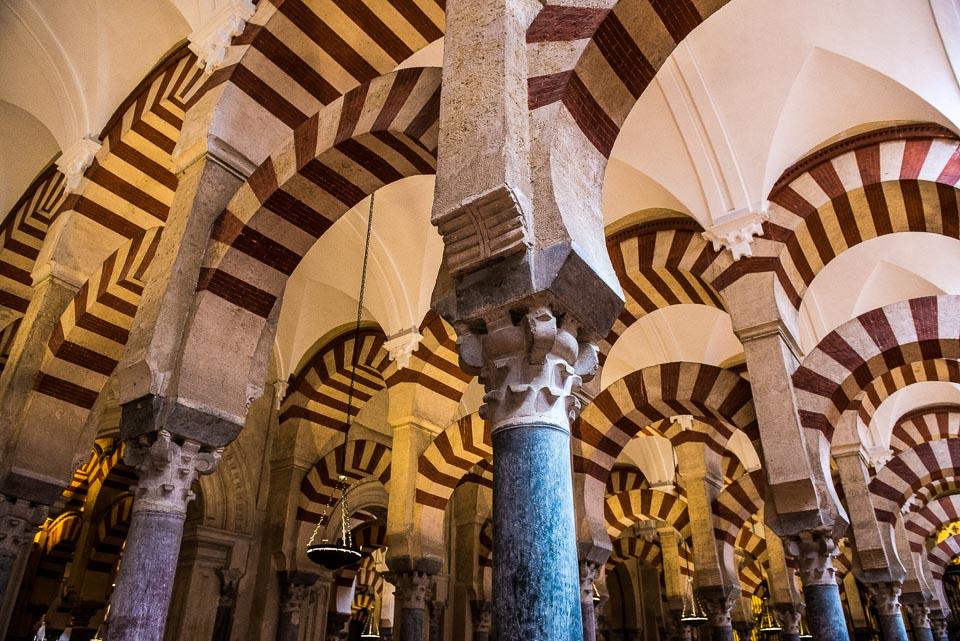 striped arches mosque cordoba unesco world heritage spain