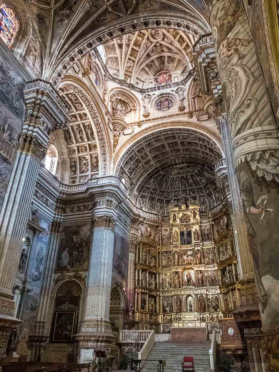 san jeronimo granada altar ceiling