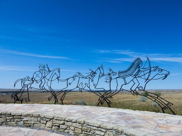 The Indian Memorial at Little Bighorn Battlefield National Monument, Montana