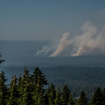 Fires Near Crater Lake National Park, Oregon