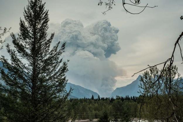 forest fire smoke glacier national park