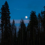 Moonrise, Lassen Volcanic National Park, California