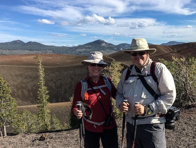 After a tough climb up Cinder Cone, Lassen Volcanic National Park.