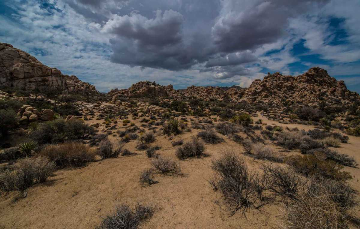 clouds hidden canyon joshua tree