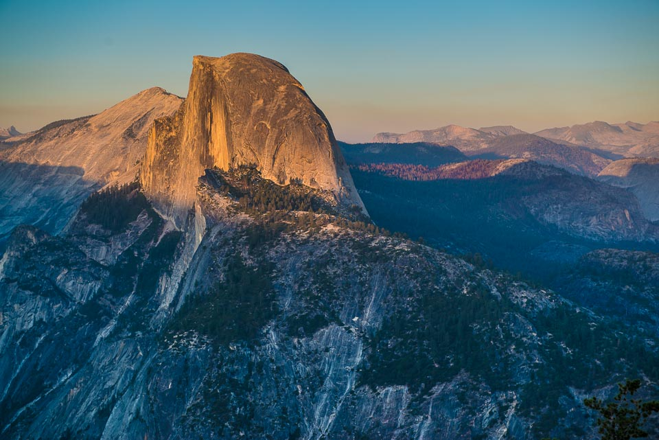 half dome yosemite close