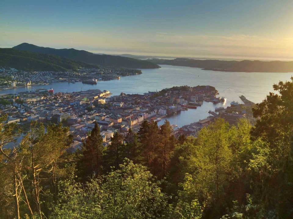 View over Bergen, Norway.