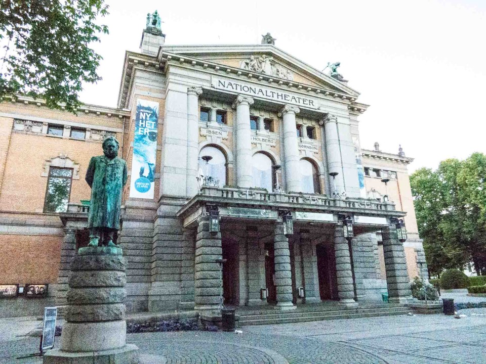 Ibsen and National Theater, Oslo Norway