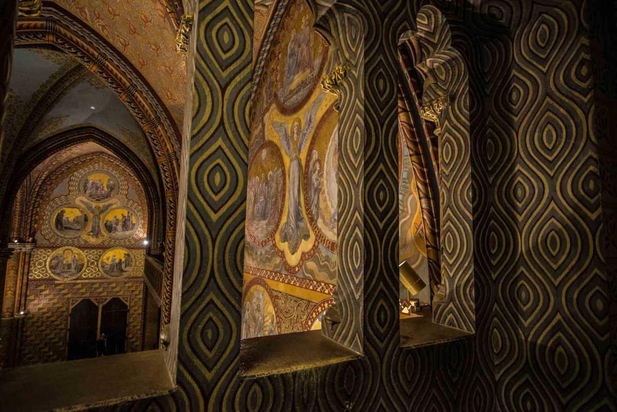 mattias church angel fresco from gallery
