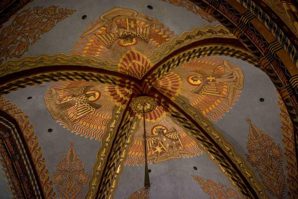 mattias church ceiling evangelists