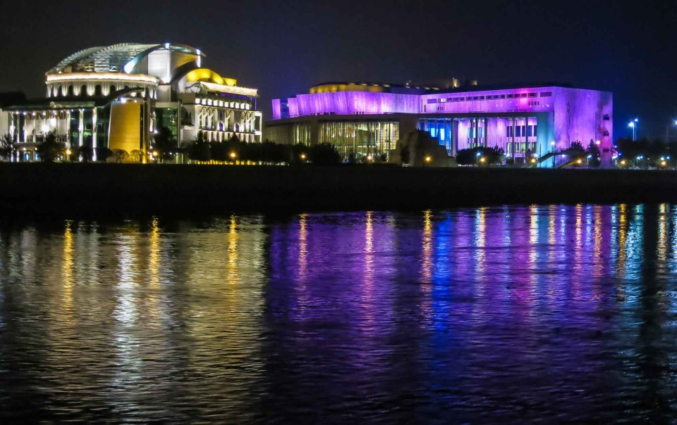 Museum of Contemporary Art and the National Theater, Danube River Cruise