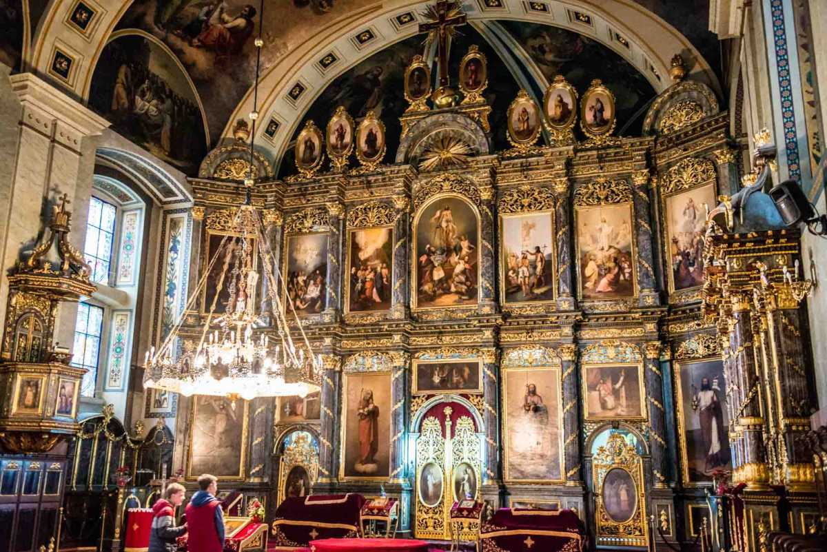 altar iconostasis Saborna church Belgrade 2