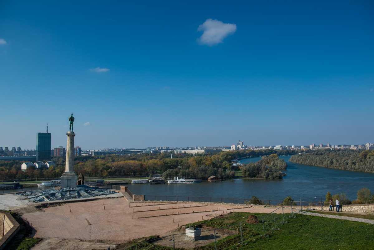 confluence Danube Sava rivers Belgrade