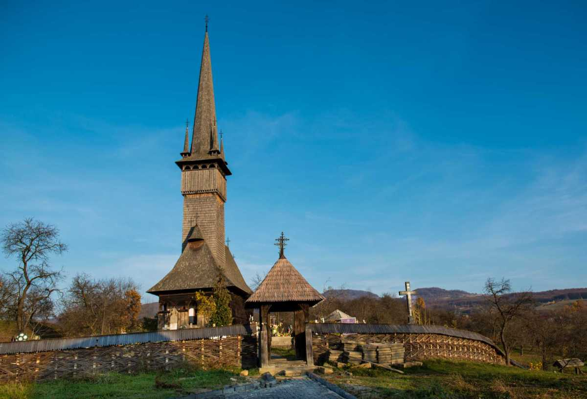 wooden church of maramures romania plopsis