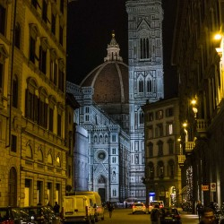 florence duomo and tower night
