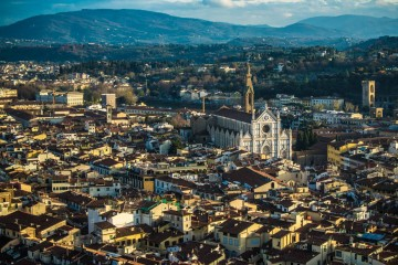 florence from the bell tower of duomo