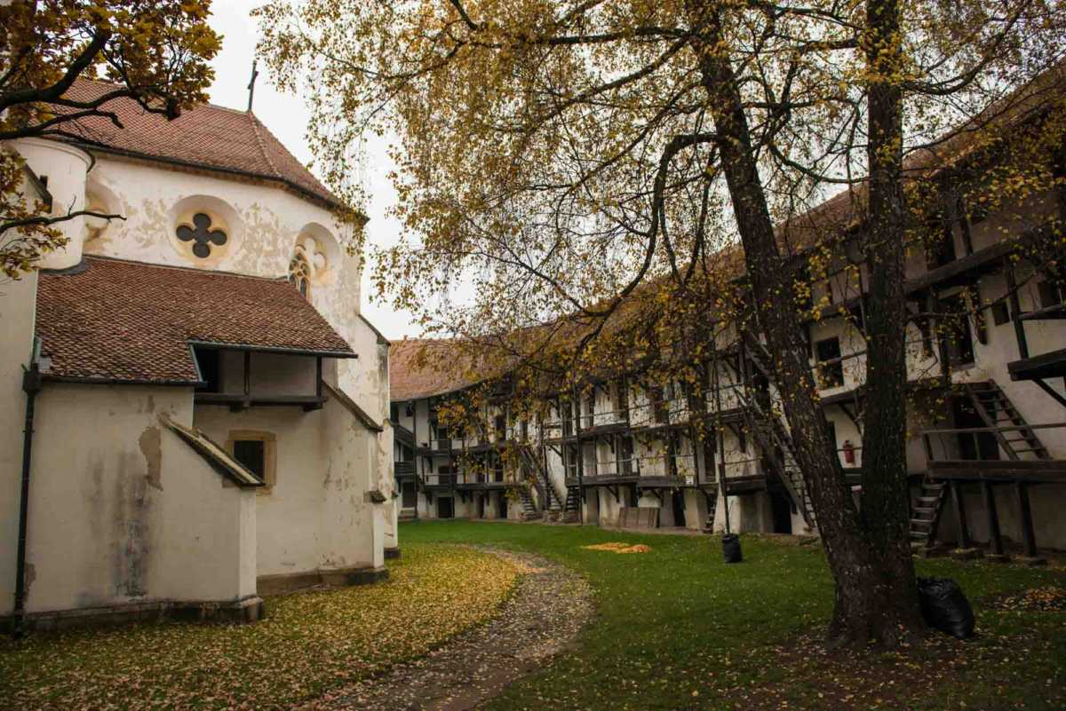 fortified churches transylvania romania courtyard prejmer