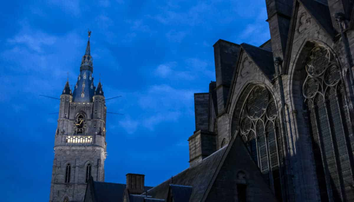 architecture ghent bell tower belgium