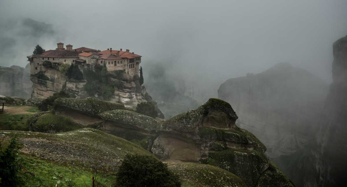 Foggy Day Meteora Greece Travel Past 50
