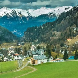swiss village from train