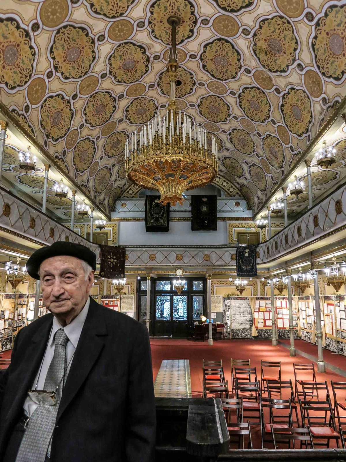 This gentleman introduced us to the displays along the walls of the Grand Synagogue of Bucharest, one of two still standing in the old city.