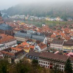 View of Heidelberg, Germany from the Castle Hill
