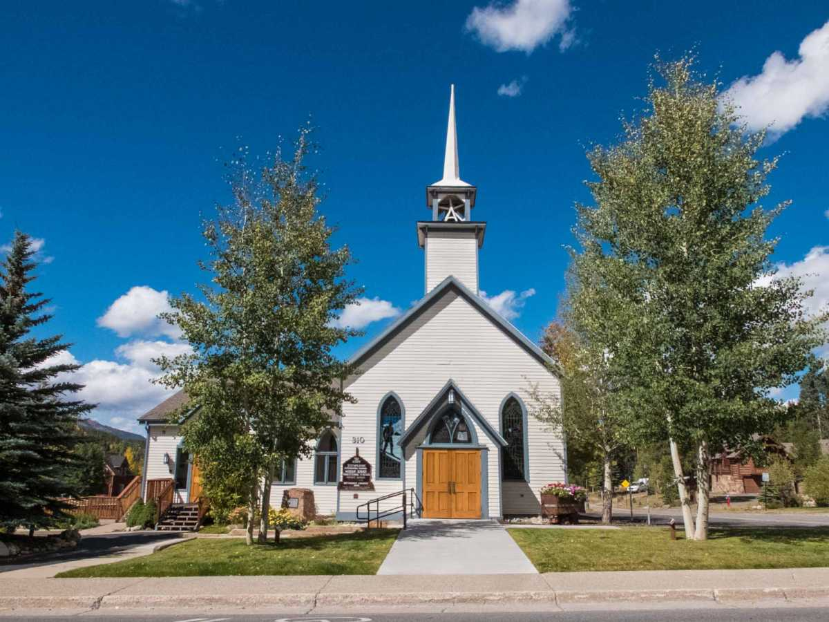 Father Dyer Church in Breckenridge, founded by the itinerant preacher who covered the area on skis.