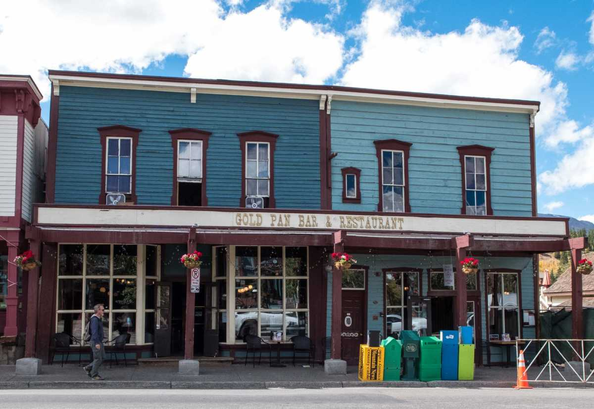 Gold Pan Bar on Main Street is the oldest bar in Breckenridge.