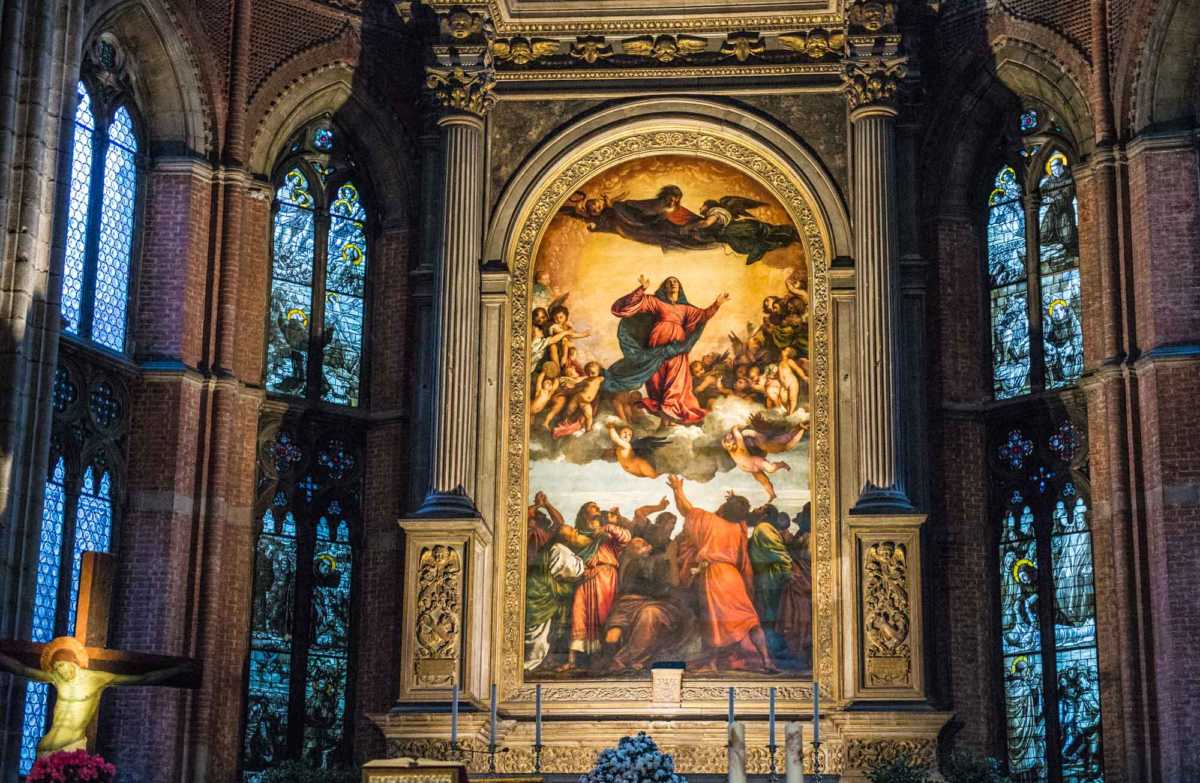 The Assumption of Mary by Titian, we learned from Susan, is the painting that established him as the preeminent painter of his day.