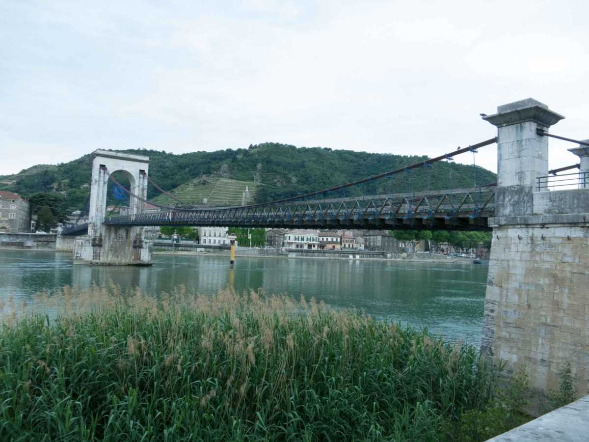 historic bridge by Marc Seguin, rhone river cruise