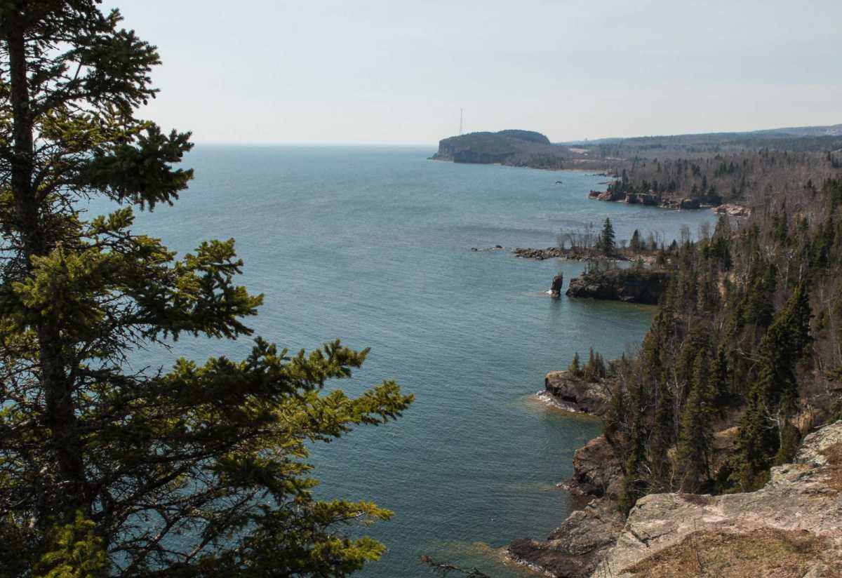 From Shovel Point looking back southwest to Palisade Head