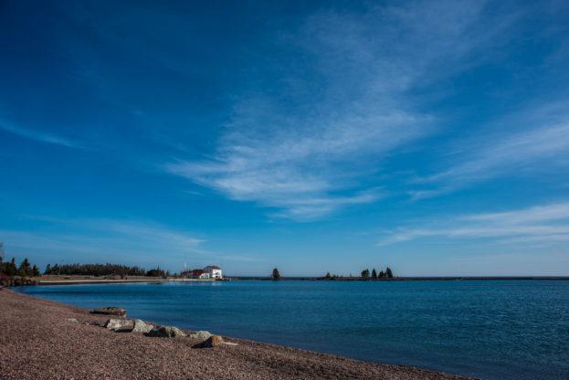 lake superior shoreline grand marais minnesota