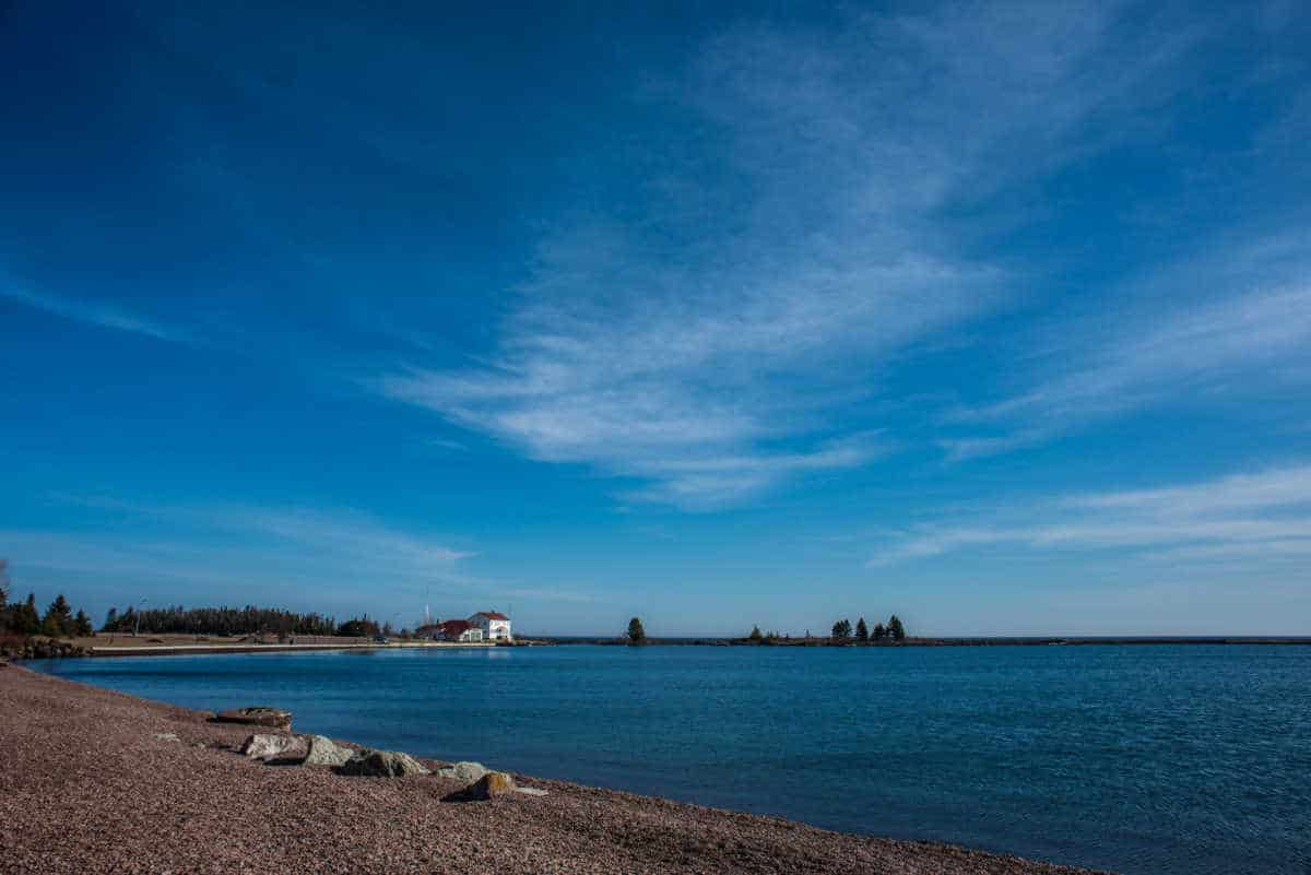 lake superior shoreline grand marais minnesota