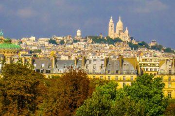 Sacre Coeur in the distance Paris