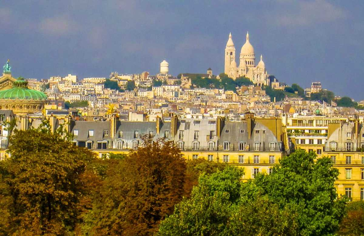 Sacre Coeur in the distance Paris