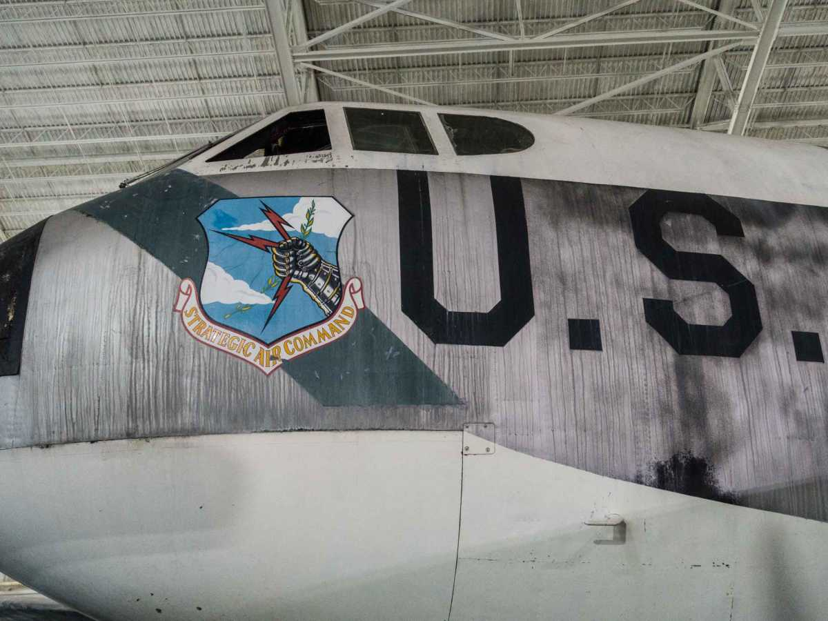 USA Omaha sac museum b-52 nose