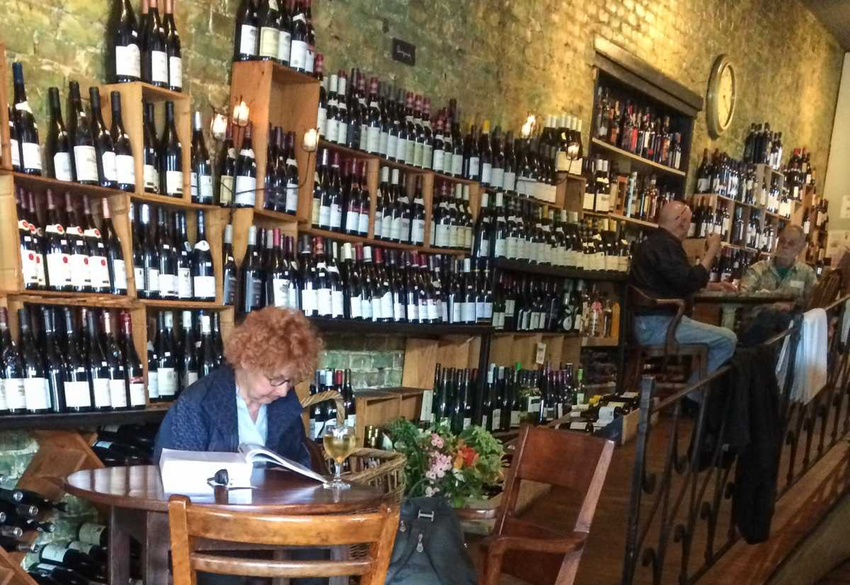 Vera Mercer slips in to La Buvette for a glass of wine and a bit of work.