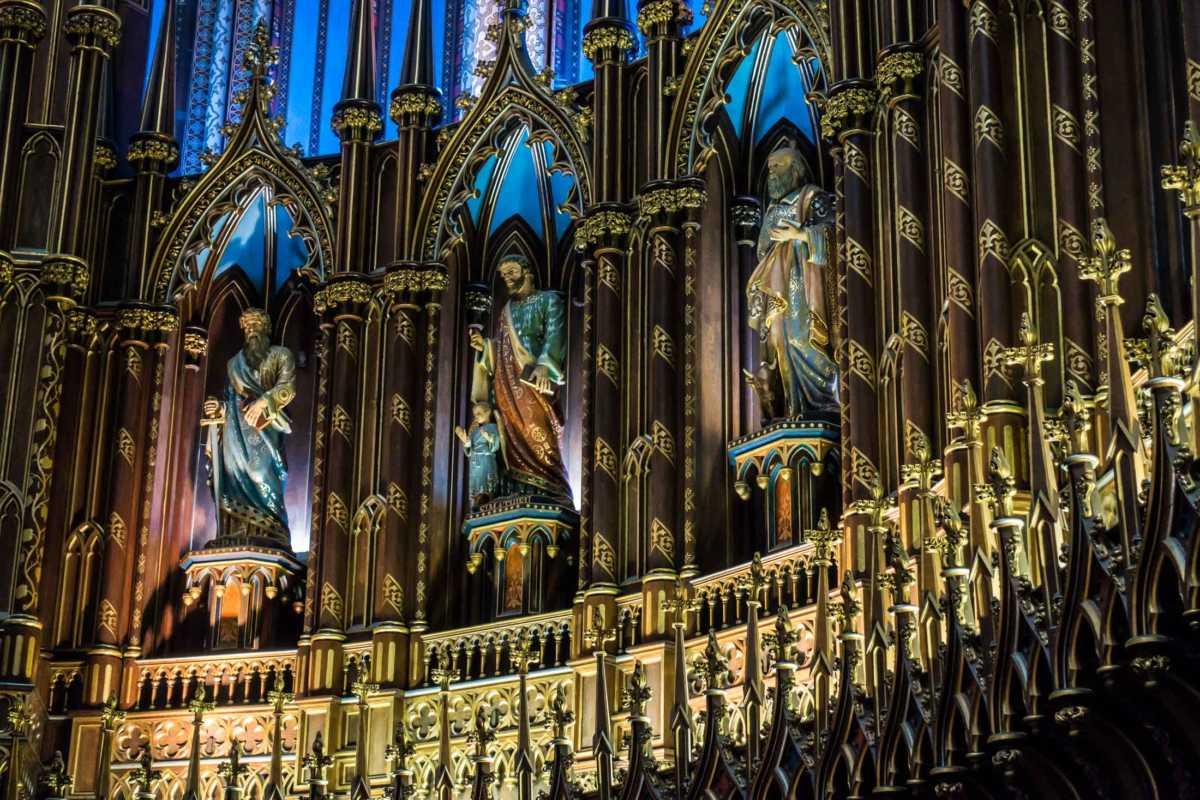 notre dame altar saints montreal