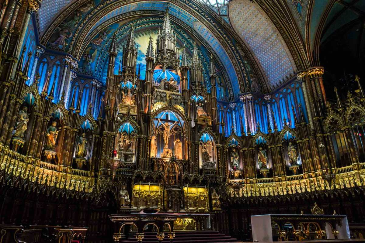 Basilica of Notre Dame Montreal Canada Travel Past 50