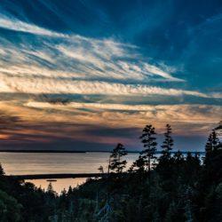 sunset dark harbour grand manan new brunswick