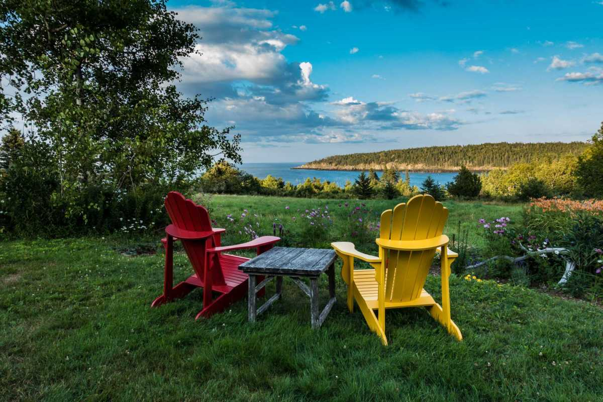 adirondack chairs bay of fundy grand manan