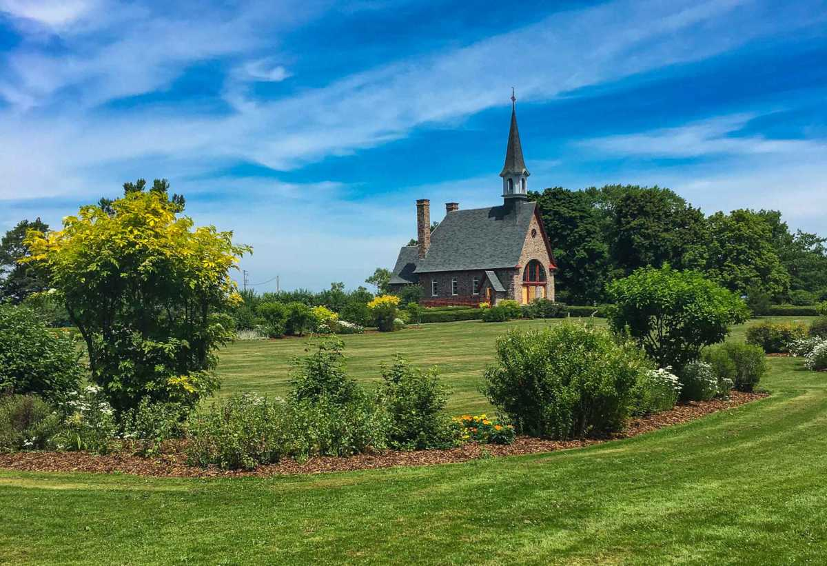 gardens church Grand Pre Nova Scotia