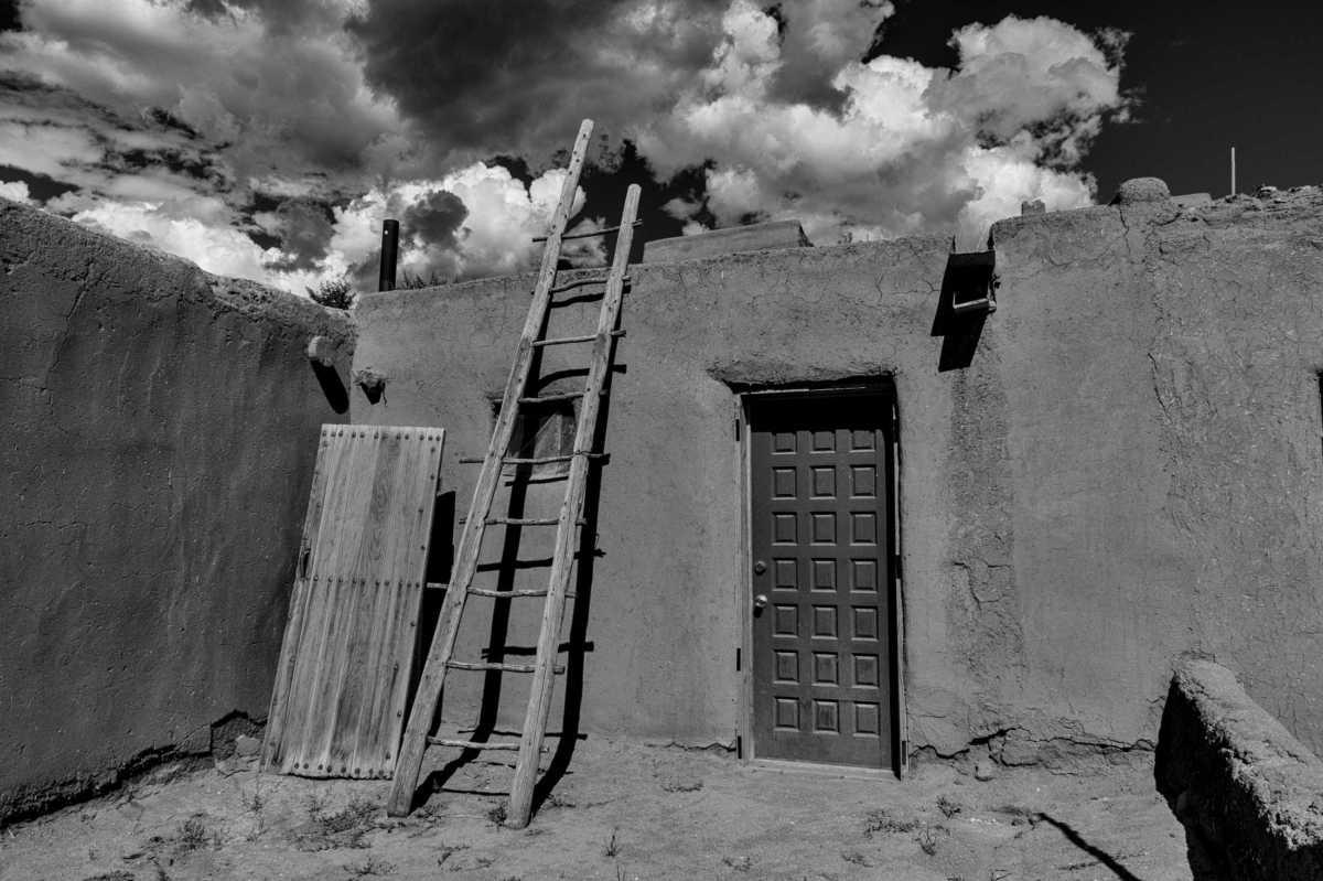 new door ladder taos pueblo