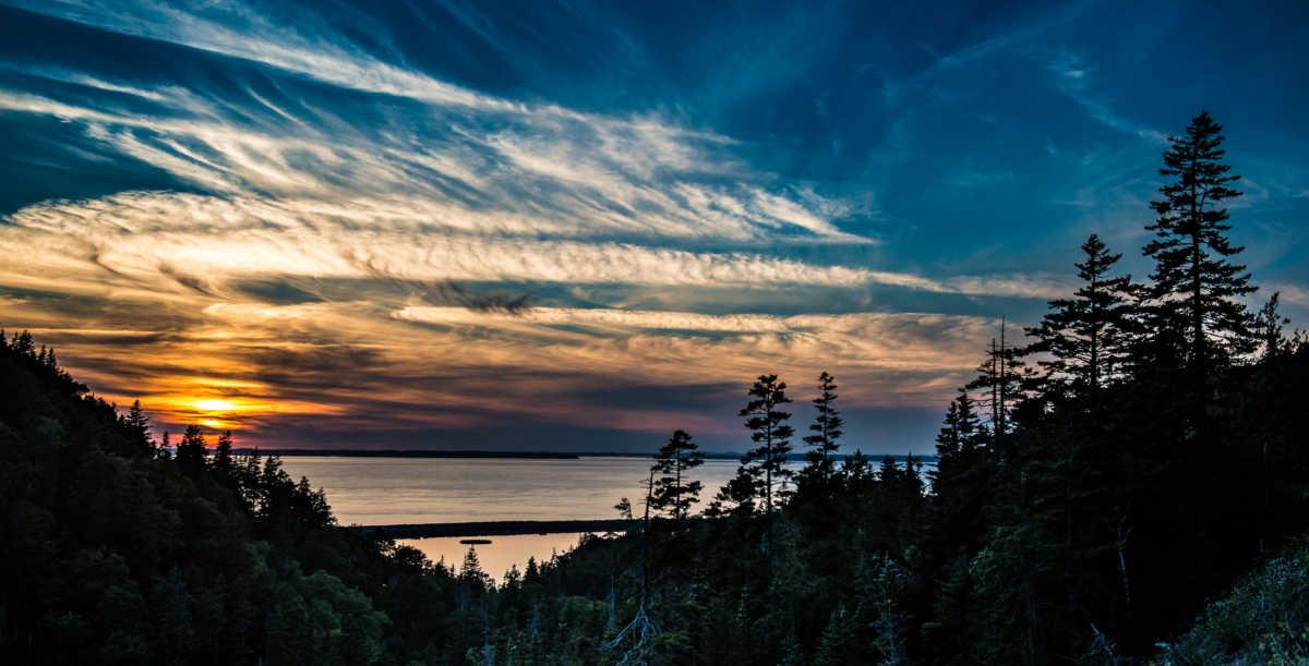 sunset dark harbour grand manan