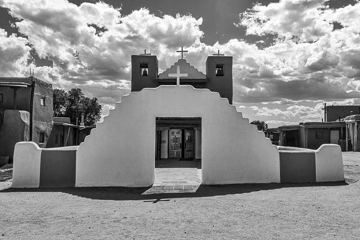 taos pueblo church gate