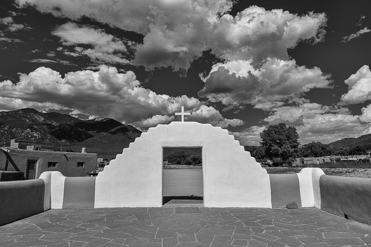 taos pueblo church courtyard